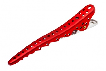 комплект зажимов shark clip (2 штуки)  ys-shark clip red metal  в магазине Denirashop.ru